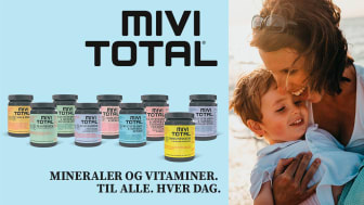 Mivitotal - ny serie af kosttilskud i farverigt og bæredygtigt design