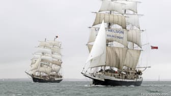 The charity's vessels SV Tenacious and STS Lord Nelson will deploy the solution, as will the Trust's Southampton-based UK office. Image credit: © Max@tallshipstock.com