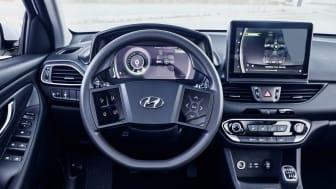Hyundais helt nye virtuelle cockpit under testing. Foto: Hyundai