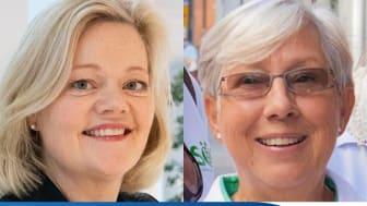Jenni Nordborg, nationell life science-samordnare samt Margareta Haag, ordförande för Nätverket mot cancer