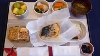 """Meny med """"Saba nouveau"""" på Japan airlines"""