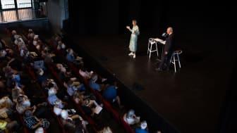 Efterårssæsonen blev kickstartet med besøg af Margrethe Vestager til CLICK AI-dage. Foto: Thinkalike/Kulturværftet