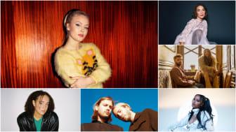 Zara Larsson (foto: Michaela Quan), Isabella Lundgren (foto: Elvira Glante), Sandro Cavazza & Georgia Ku (foto: Knotan), Rhys, JUNG, Cherrie (foto: Paul Edwards)