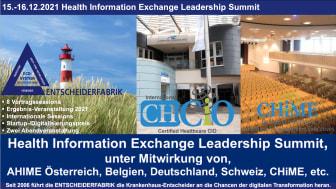 15.-16.12.2021 Health Information Leadership Summit auf Sylt