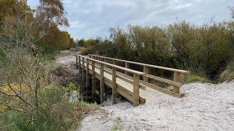Bron över Diesbäcken är det första färdigställda projektet inom En miljon idéer i Trelleborgs kommun