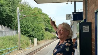 Special announcement at Stevenage: Susan Shickle enjoys her last day at work