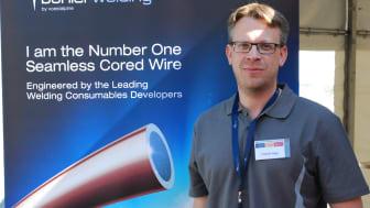 Fredrik Hägg, säljchef på voestalpine Böhler Welding Nordic.