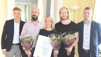 Atiums teknologi renar vatten från tungmetaller på ett mer hållbart sätt. I år vann de länsfinalen i SKAPA-priset och ska den 8 november tävla i den nationella finalen i Stockholm.