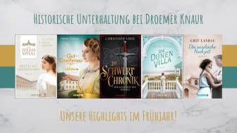 Reise in die Vergangenheit: Historische Romane im Frühjahr bei Droemer Knaur