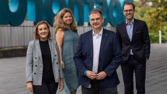 Tillsammans satsar PostNord och Sigma Young Talent på att ge nyutexaminerade en bra start i karriären. På bilden från vänster till höger: Linnea Schennings, Jenny Fagerstedt Boman, Per-Åke Bergman och Daniel Gyllensparre.