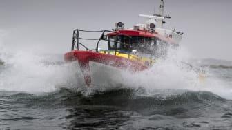 Den nya sjöräddningsbåten Rescue Eric D. Nilsson är på väg till Gotland