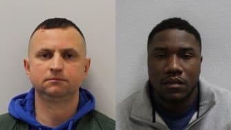 Jailed: Besnik Berisha (left) and Kaziku Ruwisana (right)