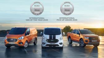 Strålende fornøyd: Ford Motor Norges er strålende fornøyd med dobbeltseieren for to av Norges mest populære nyttekjøretøy.