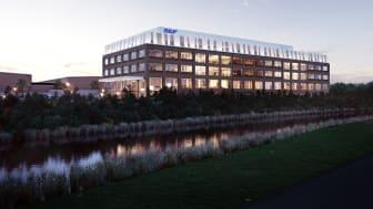Bild: Liljewall arkitekter. Illustration av SKF:s nya huvudkontor.