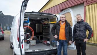 Mikael Eriksson, EM el AB och Richard Johansson, Elektroskandia Sverige AB. Foto: Sune Eskelinen
