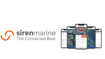 Company logo (left) and checking a range of boating information with the dedicated app (right)