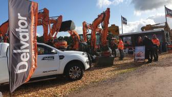 Delvator ställer ut högklassiga Hitachi grävmaskiner och hjullastare på Entreprenad Live