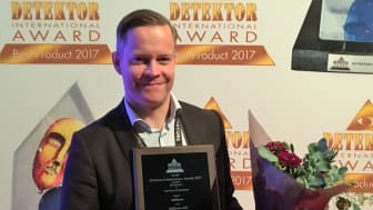 "Mats Genberg, Salgssjef hos AddSecure, tok imot prisen ""Best Innovative Achievement within IoT Security""."