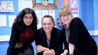 Making the case for the arts in schools -  L-r  Henna Javed, Sophie Cole and Sam Fairbairn