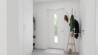 Brf Skogshem - 3D-bild av hall