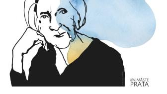 Demokratidagarna runt om i landet genomförs i samarbete med projektet #ViMåstePrata, ett initiativ av Förintelseöverlevanden Hédi Fried. Illustration: Stina Wirsén/#vimåsteprata