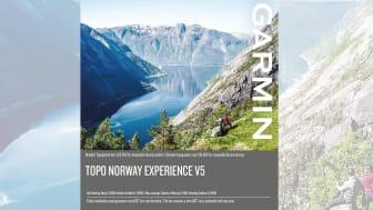 Topo Norway Experience v5 - detaljert topografisk kart 1:50 000 for kompatible Garmin enheter og PC/Mac