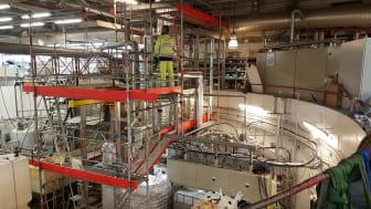 Pilotanläggningen på Hammarby Sjöstadsverk. Här ska kväve utvinnas ur avloppsvatten. Foto: Ekobalans