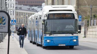 En 24 meter lång dubbelledbuss från Transdev går till historien i Göteborg