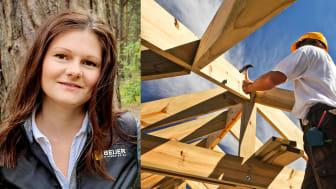För oss är det viktigt att köpa ansvarsfullt avverkat trä, enda från att det varit frö tills det når vår kund, säger Alexandra Rosenqvist, miljö- och hållbarhetschef för Beijer Byggmaterial.