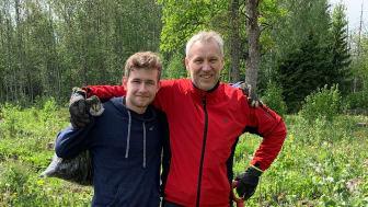 Jonathan och pappa Johan Borg, inköpschef BoKlok.