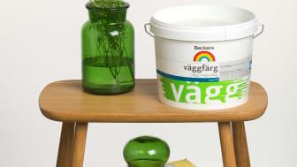Beckers – ett allt grönare färgföretag: Sveriges mest sålda väggfärg Svanenmärks