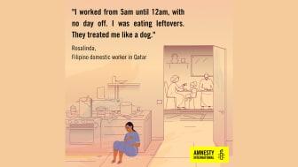 Qatar - kvinnor som arbetar i hushåll utnyttjas och och utsätts för övergrepp