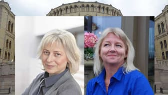 Lidia Ivanova Myhre, generalsekretær i Norske Naturterapeuters Hovedorganisasjon, og Anne-Mette Eriksen Hjemaas, nestleder i NNHs sentralstyre