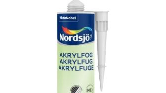 Nordsjö Akrylfug med både Svane- og M1-merkning