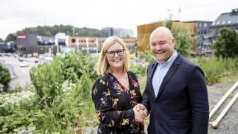 Katja Brandt Persson, Rektor Fenestra Nya Hovås och Jonatan Larsson, projektchef Next Step