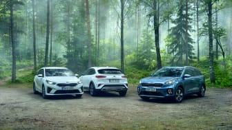 Kia Ceed-modellfamiljen och Kia Niro etta respektive tvåa på den svenska bilmarknaden i juli.
