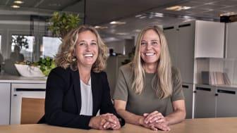 Två nya styrelsemedlemmar hos Dayspring. Från vänster, Karin Dahlgren och Anna Langenius.