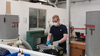Northumbria lab technicians 3D printing PPE components