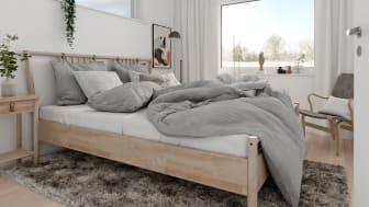 Brf Skogshem - 3D-bild av sovrum