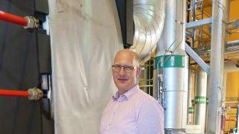 Björn Nilsson, fjärrvärmeansvarig på Höganäs Energi, är glad åt den miljösatsning som Klimatklivet nu möjliggör i Höganäs.