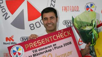 Josef Hakimi från Leksand tävlar i Pizza EM