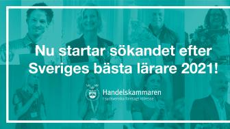 Nu startar sökandet efter Sveriges Bästa Lärare 2021!