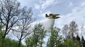 Unik skogsbrandsövning genomfördes i Karlskrona