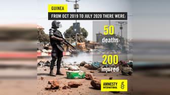 Guinea- minst 50 personer dödade under årets protester utan att någon har ställts till svars