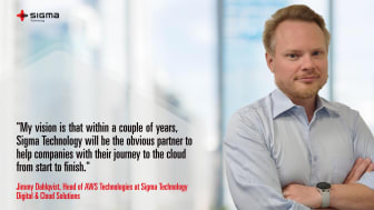 Jimmy Dahlqvist, Head of AWS Technologies at Sigma Technology Digital & Cloud Solutions