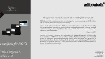 Nästa generations batteribackuper certifierade hos Stöldskyddsföreningen, SSF