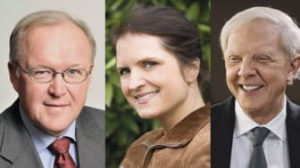 Göran Persson, Stina Ehrensvärd, Bertil Hult, Fredrika Gullfot och Alan Mamedi medverkar vid årets Anders Wall-föreläsning.