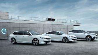 Peugeot 508, Peugeot 508 SW och Peugeot 3008 SUV som laddhybrider