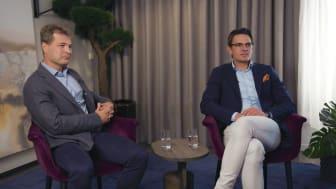 Henrik Blomé, Partner Alder och Björn Wulff, CEO Briab