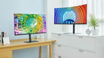 Samsung lanserer ny 2021 produktserie med høyoppløste skjermer